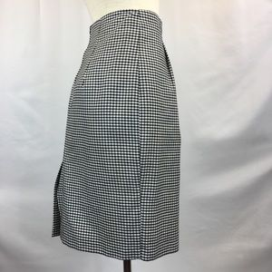 Vintage Skirts - Vintage High Waisted Black & White Gingham Skirt